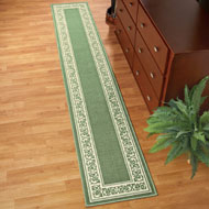 Extra Long Floral Border Rug - 36927