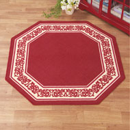 Floral Border Octagon Accent Rug - 36928