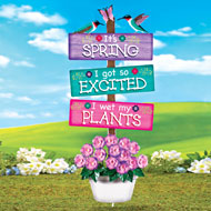 Novelty Springtime Sign Garden Stake - 36977