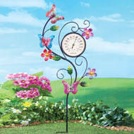 Butterfly Thermometer Garden Stake