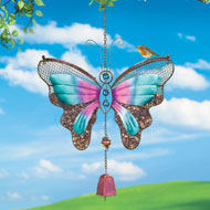 Mesh Colorful Butterfly Birdfeeder