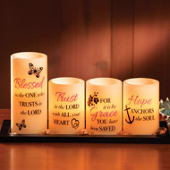 LED Inspirational Blessings Candles - Set of 4 - 37152
