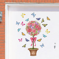 Floral Topiary Garage Door Magnets - 37166