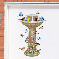 Springtime Birdbath Garage Door Magnets - 37167
