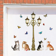 Cats and Lamppost Garage Door Magnets - 37173