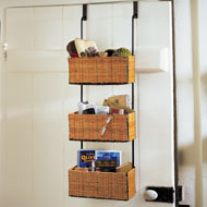 Over the Door Rack with 3 Baskets - 37180