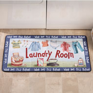 Colorful Washday Laundry Novelty Mat - 37194