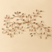 Gilded Leaf Metal Wall Art Decor