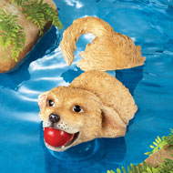 Outdoor Pond Decoration Dog Statue Floater - 37229