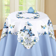 Elegant Butterfly and Greenery Table Linens - 37267