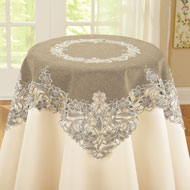 Elegant Embroidered Lace Table Linens
