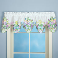 Embroidered Easter Eggs and Flowers Window Valance - 37278