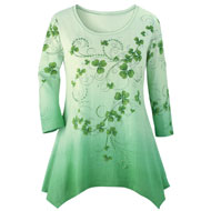Shamrock Printed Ombre Top - 37459