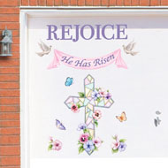 Rejoice Easter Cross Garage Door Magnet - 37462