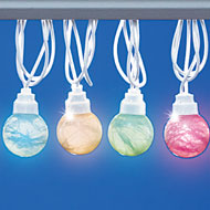 Pastel Tinsel Globe String Lights - 37470