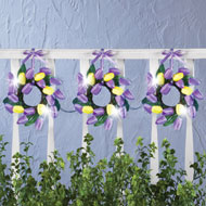 Lighted Tulip Wreath Garland Decor - 37485