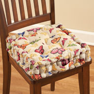 Butterfly Tufted Chair Cushion - 37546