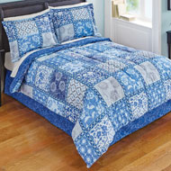 Venice Blue Comforter Set with Bedskirt - 37564