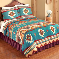 Southwest Cheyenne Aztec Fleece Coverlet - 37579
