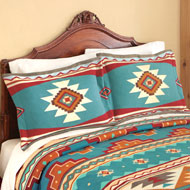 Southwest Cheyenne Aztec Fleece Pillow Sham - 37583