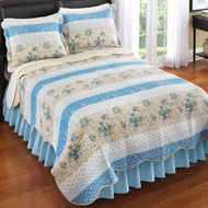 Reversible Patchwork Stripe Quilt