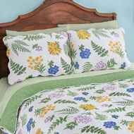 Fern Garden Floral Pillow Sham