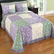 Mariel Patchwork Chenille Bedspread - 37631