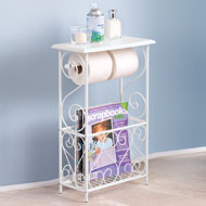 Toilet Paper and Magazine Holder Table - 37639