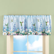 Garden Bliss Hummingbird Window Valance - 37658