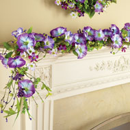 Purple Morning Glory and Berries Garland