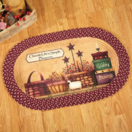 Primitive Country Charm Braided Rug - 37738