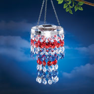 Solar Patriotic Chandelier Dangler - 37762