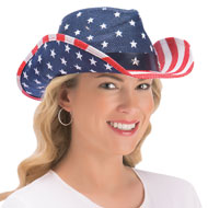 Patriotic Stars and Stripes Cowboy Hat - 37779
