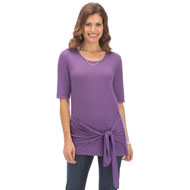 Tie Front Knit Tunic - 37815