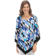 Abstract Printed Top with Handkerchief Hem - 37819