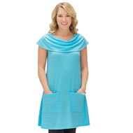 Sleeveless Cowl Neck Tunic with Pockets - 37822