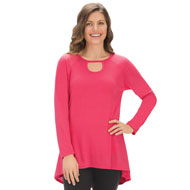 Keyhole Neck Tunic with High-Low Hem