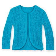 Pointelle Sweater Knit Open Shrug - 37829