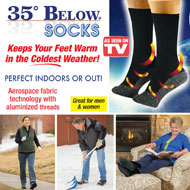 35 Below Insulated Winter Socks - Set of 2 Pairs - 37851