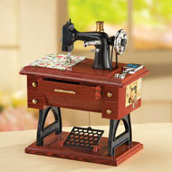 Antique Sewing Machine Music Box