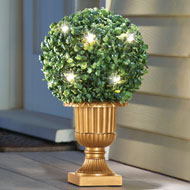 Lighted Faux Round Topiary in Vase - 37891