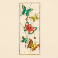Colorful Metal Butterfly Art in Frame