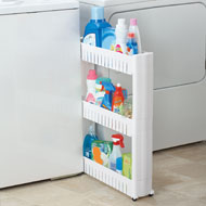 Slim 3-Tier Rolling Storage Shelf - 37966