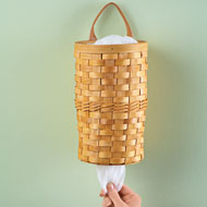 Woven Basket Plastic Bag Dispenser - 37967