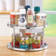 Steel 2-Tiered Lazy Susan - 37968