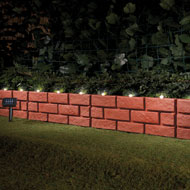 Solar Faux Brick Garden Border Set - 4pc - 37975