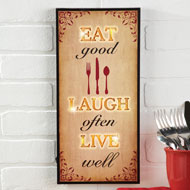 Lighted Eat Laugh Live Kitchen Wall Art - 37981