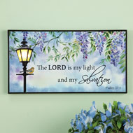 Lighted Wisteria Blossoms Inspirational Wall Art