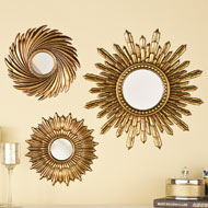 Sunburst Mirror Wall Decals - Set of 3 - 37994