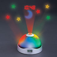 Color-Changing Stars Projection Clock - 38069